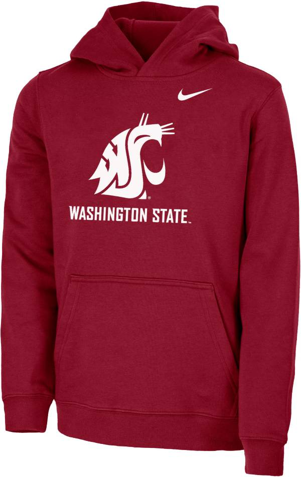 Nike Youth Washington State Cougars Crimson Club Fleece Pullover Hoodie product image