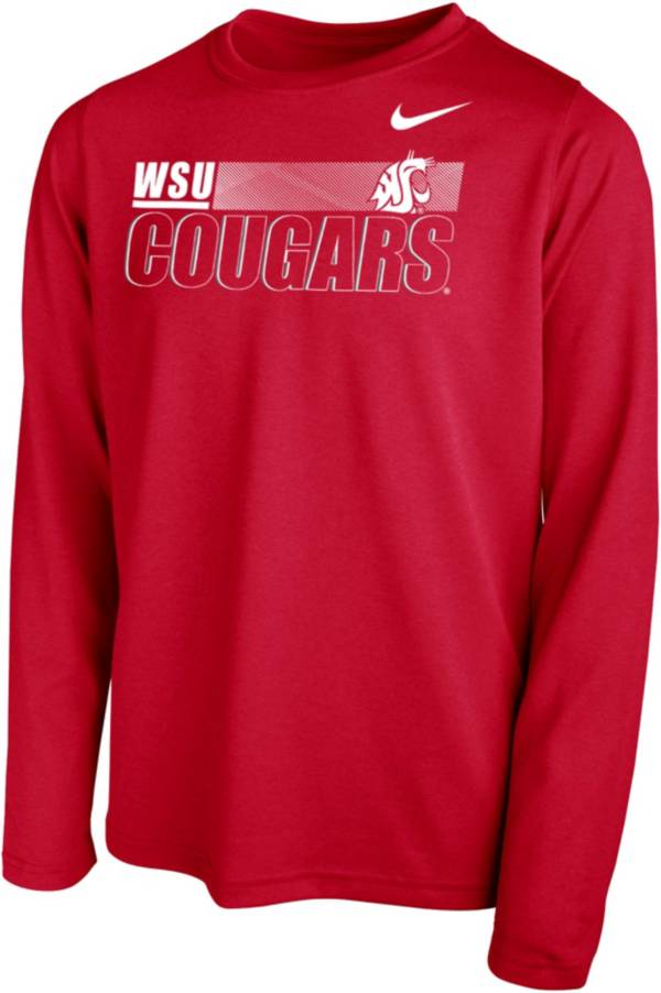 Nike Youth Washington State Cougars Crimson Legend Long Sleeve Performance T-Shirt product image