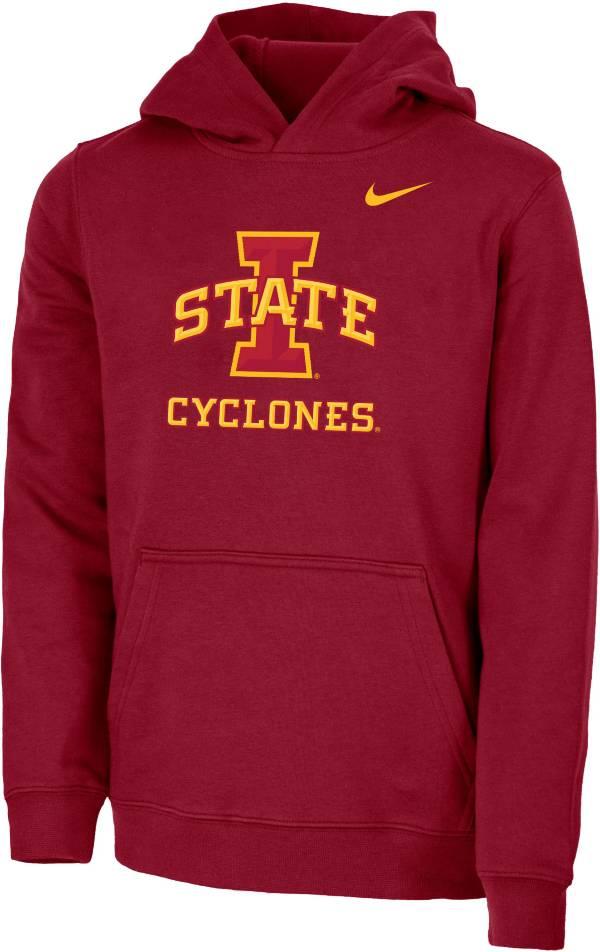 Nike Youth Iowa State Cyclones Cardinal Club Fleece Pullover Hoodie product image