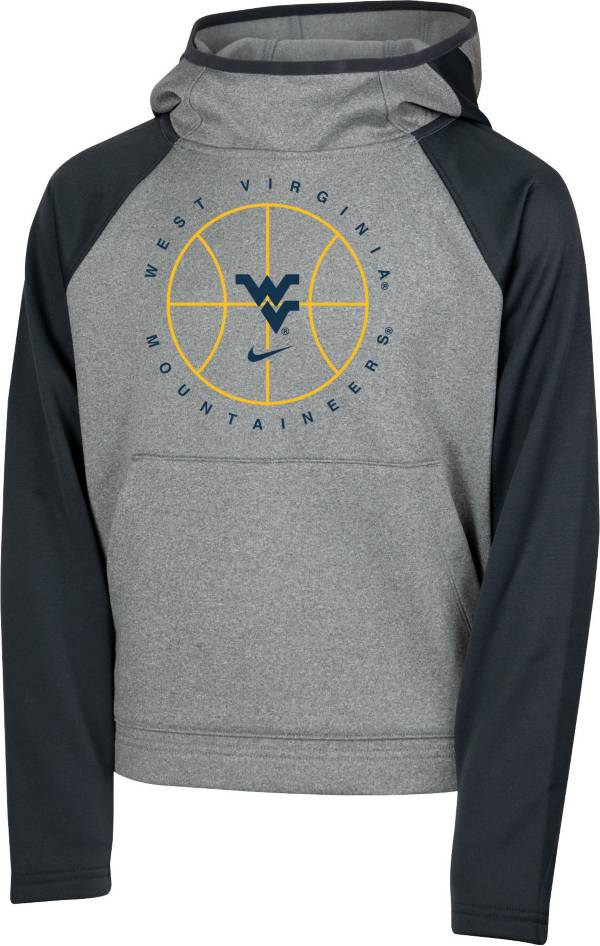 Nike Youth West Virginia Mountaineers Grey Spotlight Pullover Basketball Hoodie product image