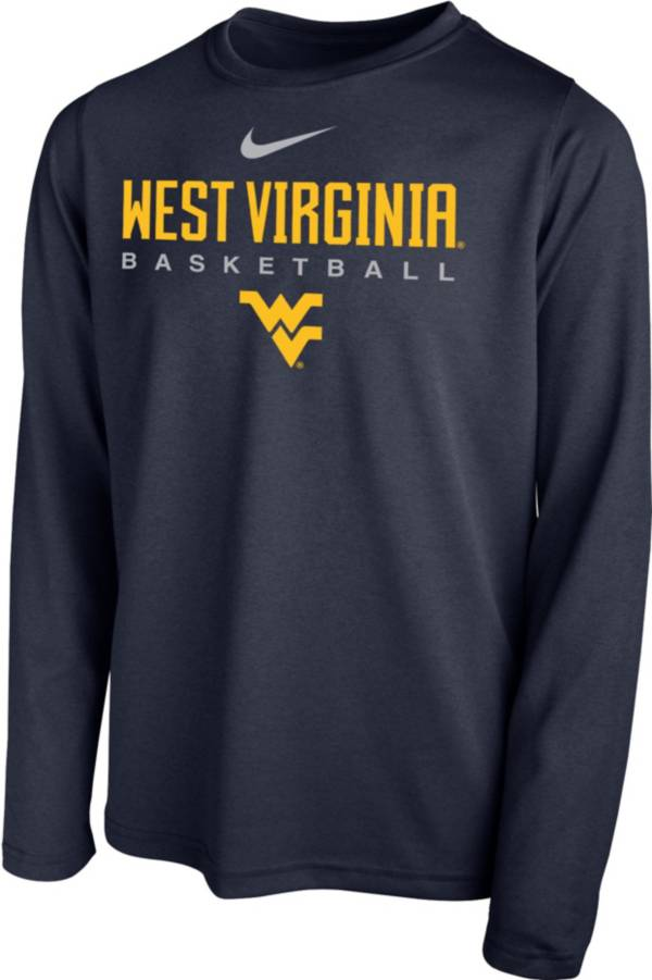Nike Youth West Virginia Mountaineers Blue Hook Dri-FIT Legend Long Sleeve Basketball T-Shirt product image