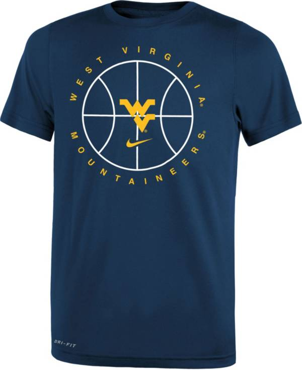 Nike Youth West Virginia Mountaineers Blue Legend Practice Performance Basketball T-Shirt product image