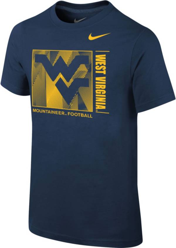 Nike Youth West Virginia Mountaineers Blue Core Cotton T-Shirt product image