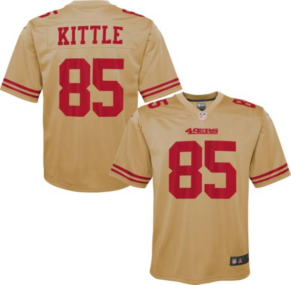 Nike Youth San Francisco 49ers George Kittle #85 Gold Game Jersey product image