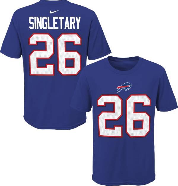 NFL Team Apparel Youth Buffalo Bills Devin Singletary #85 Royal Player T-Shirt product image