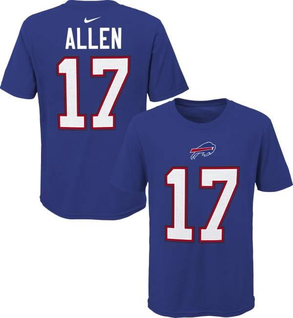 NFL Team Apparel Youth Buffalo Bills Josh Allen #17 Royal Player T-Shirt product image