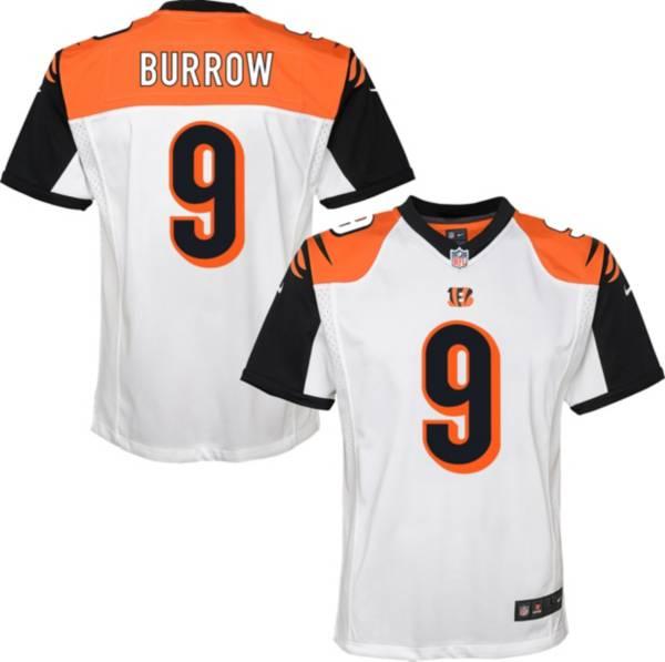 Nike Youth Cincinnati Bengals Joe Burrow #9 White Game Jersey product image