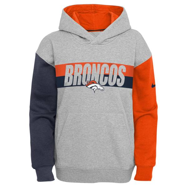 Nike Youth Denver Broncos Grey Heritage Pullover Hoodie product image