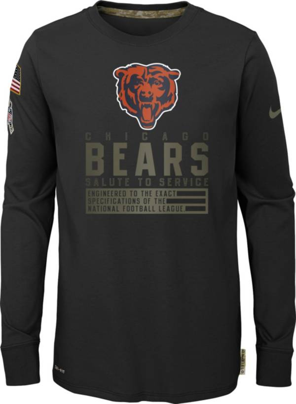 Nike Youth Salute to Service Chicago Bears Black Long Sleeve Shirt product image