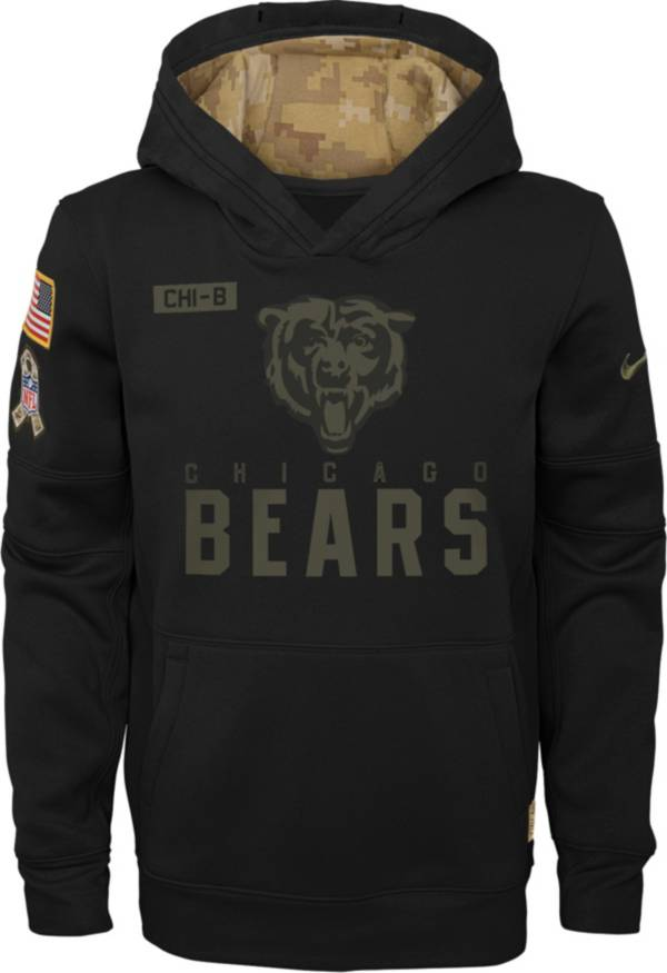 Nike Youth Salute to Service Chicago Bears Black Therma-FIT Pullover Hoodie product image