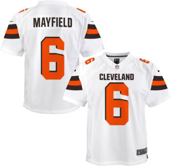 NFL Team Apparel Youth Replica Cleveland Browns Baker Mayfield #6 White Jersey product image