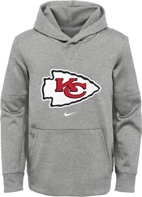 Nike Youth Kansas City Chiefs Black Therma Pullover Hoodie product image