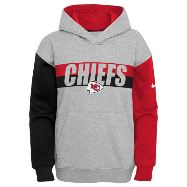 Nike Youth Kansas City Chiefs Grey Heritage Pullover Hoodie product image