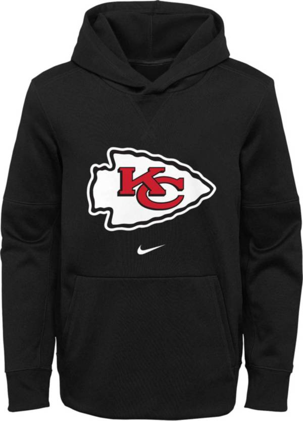 Nike Youth Kansas City Chiefs Sideline Therma-FIT Black Pullover Hoodie product image