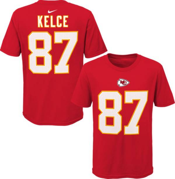 NFL Team Apparel Youth Kansas City Chiefs Travis Kelce #85 Red Player T-Shirt product image