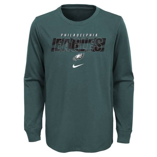 Nike Youth Philadelphia Eagles Sport Teal Cotton Long Sleeve T-Shirt product image