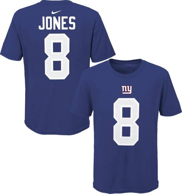 NFL Team Apparel Youth New York Giants Daniel Jones #85 Royal Player T-Shirt product image