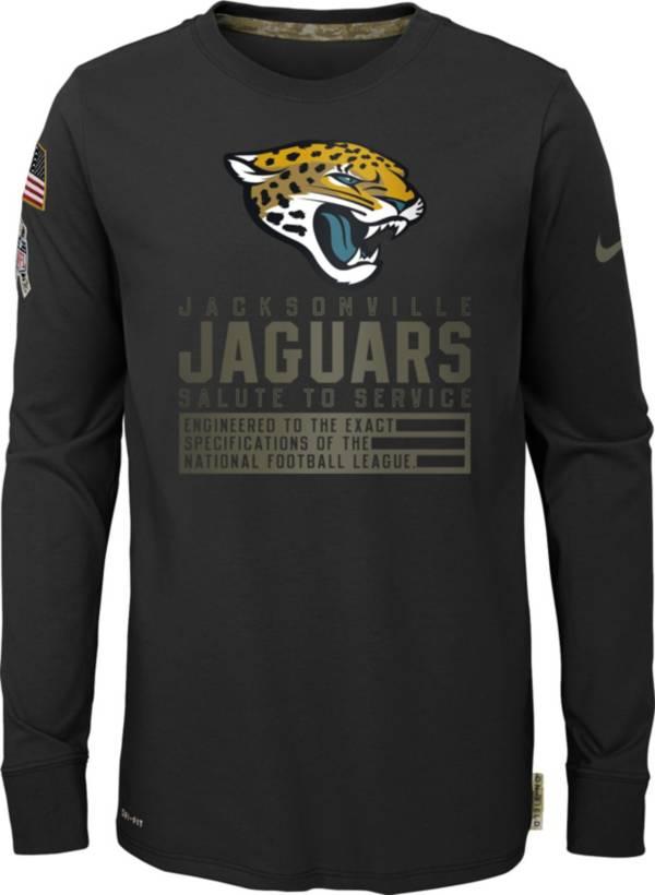 Nike Youth Salute to Service Jacksonville Jaguars Black Long Sleeve Shirt product image