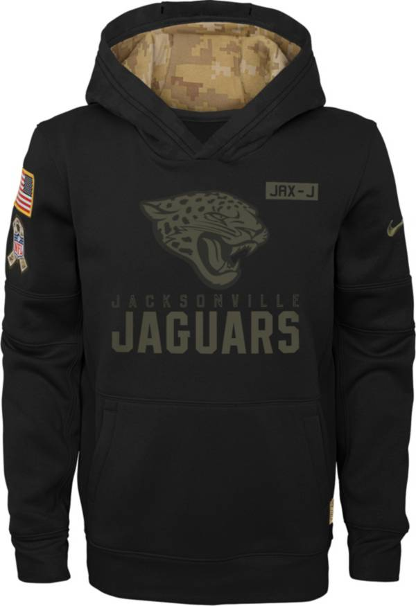 Nike Youth Salute to Service Jacksonville Jaguars Black Therma-FIT Pullover Hoodie product image