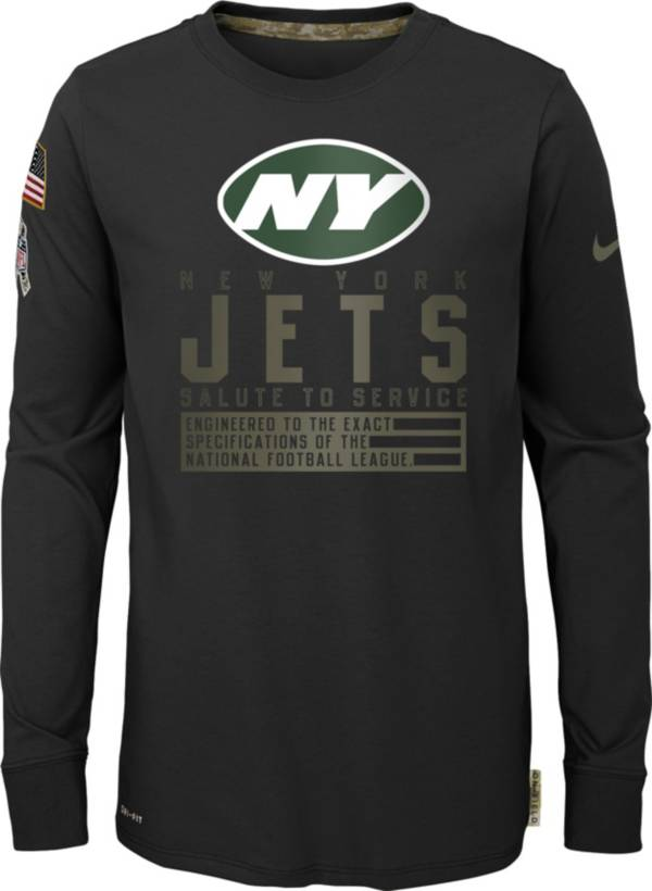 Nike Youth Salute to Service New York Jets Black Long Sleeve Shirt product image