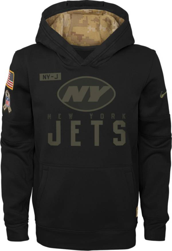 Nike Youth Salute to Service New York Jets Black Therma-FIT Pullover Hoodie product image
