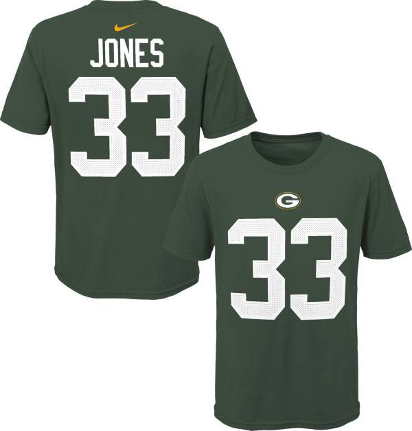 NFL Team Apparel Youth Green Bay Packers Aaron Jones #85 Green Player T-Shirt product image