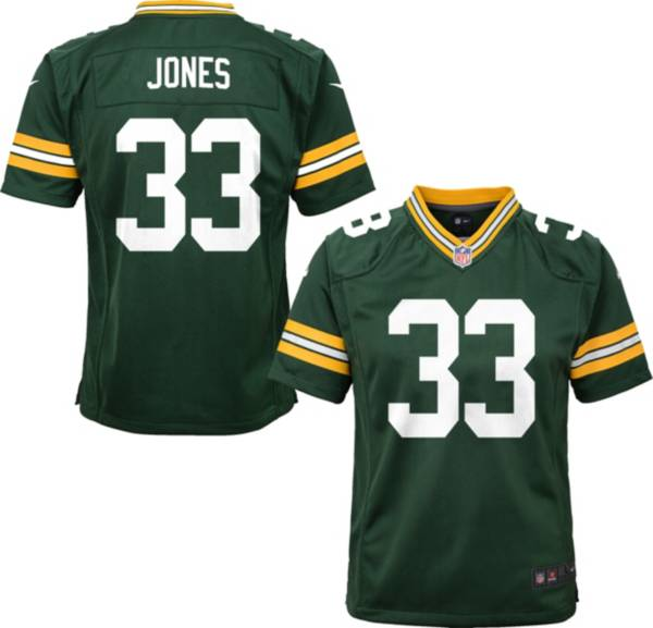 Nike Youth Green Bay Packers Aaron Jones #33 Green Game Jersey product image