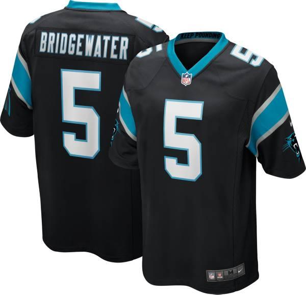 Nike Youth Carolina Panthers Teddy Bridgewater #5 Black Game Jersey product image