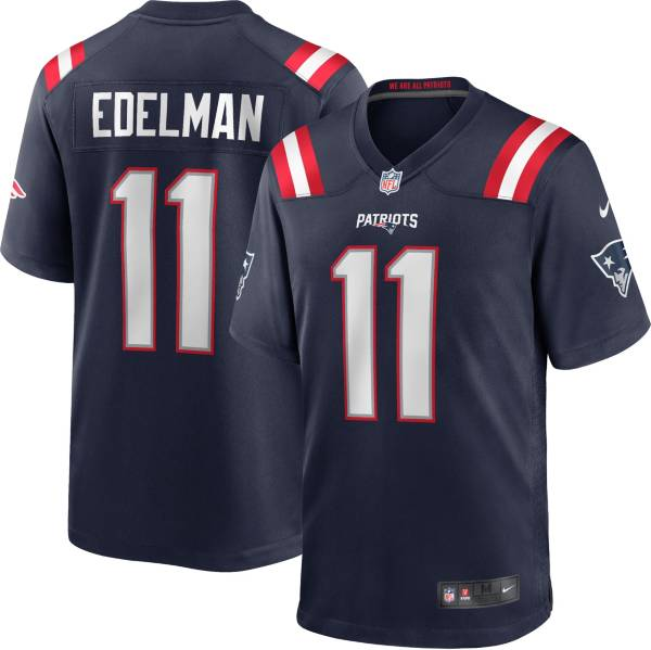 Nike Youth New England Patriots Julian Edelman #11 Navy Game Jersey product image