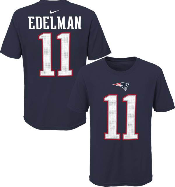NFL Team Apparel Youth New England Patriots Julian Edelman #85 Navy Player T-Shirt product image