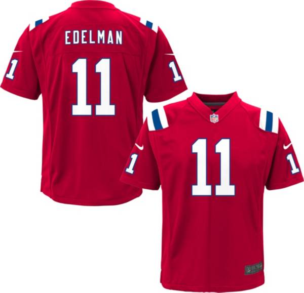 Nike Youth New England Patriots Julian Edelman #11 Red Game Jersey product image