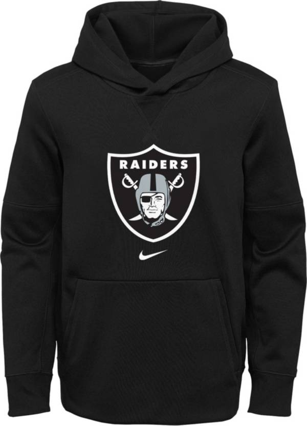 Nike Youth Las Vegas Raiders Black Therma Pullover Hoodie product image