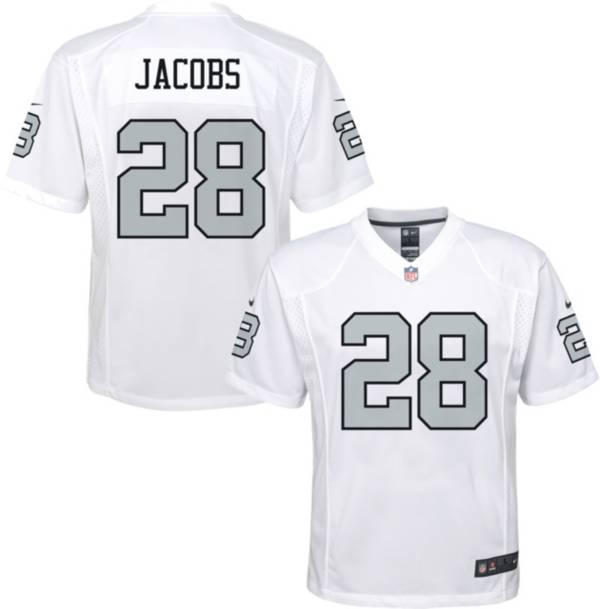 Nike Youth Las Vegas Raiders Josh Jacobs #28 White Game Jersey product image