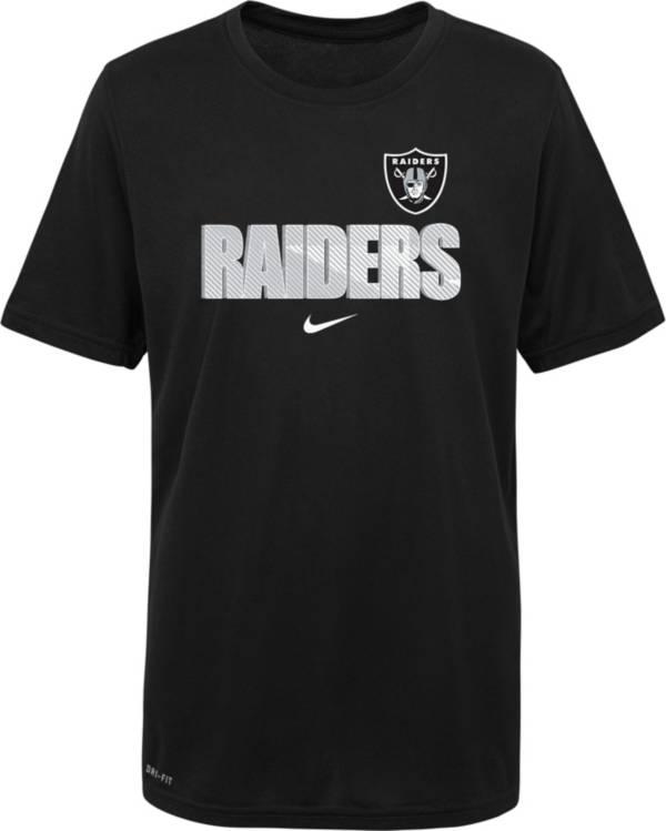 Nike Youth Las Vegas Raiders Legend Black T-Shirt product image