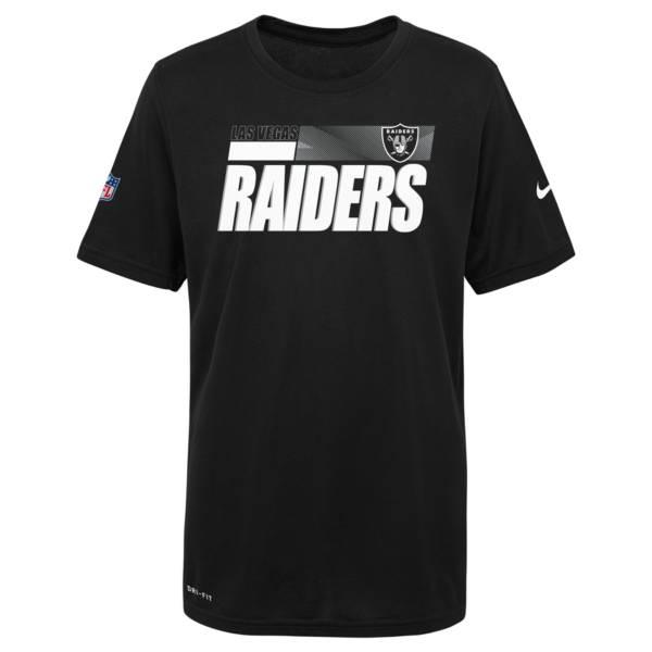 Nike Youth Las Vegas Raiders Black Legend T-Shirt product image