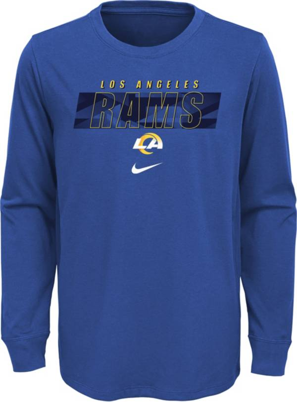 NFL Team Apparel Youth Los Angeles Rams Blue Cotton Long Sleeve T-Shirt product image