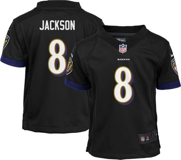 NFL Team Apparel Youth 4-7 Replica Baltimore Ravens Lamar Jackson #8 Black Jersey product image