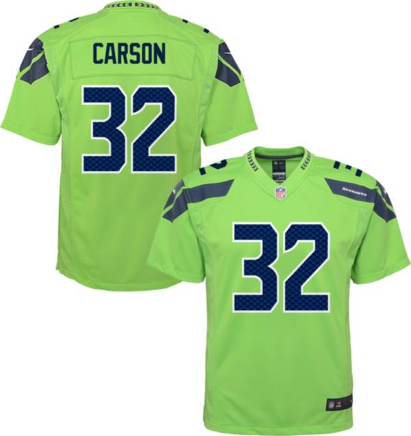 Nike Youth Seattle Seahawks Chris Carson #32 Turbo Green Game Jersey product image