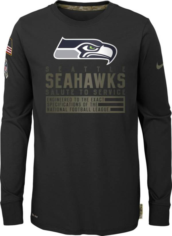 Nike Youth Salute to Service Seattle Seahawks Black Long Sleeve Shirt product image