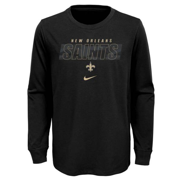 NFL Team Apparel Youth New Orleans Saints Black Cotton Long Sleeve T-Shirt product image