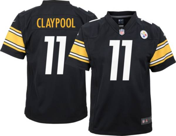 Nike Youth Pittsburgh Steelers Chase Claypool #11 Home Black Game Jersey product image