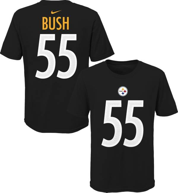 NFL Team Apparel Youth Pittsburgh Steelers Devin Bush #85 Black Player T-Shirt product image
