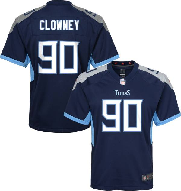 Nike Youth Tennessee Titans Jadeveon Clowney #99 Navy Game Jersey