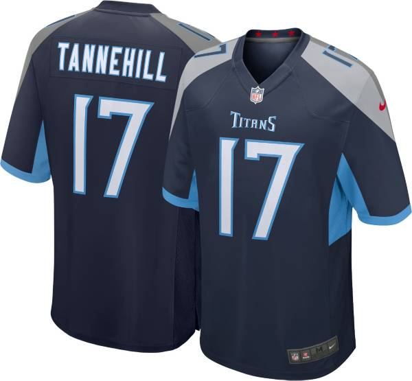 Nike Youth Tennessee Titans Ryan Tannehill #17 Navy Game Jersey
