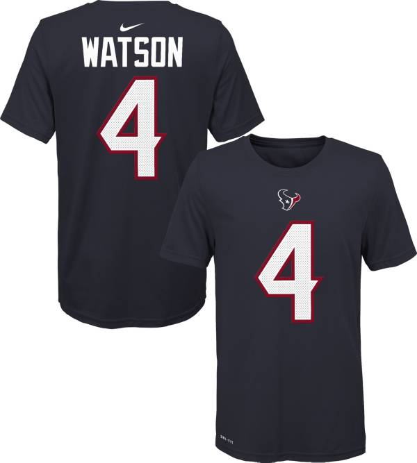 Nike Youth Houston Texans Deshaun Watson #4 Navy T-Shirt product image