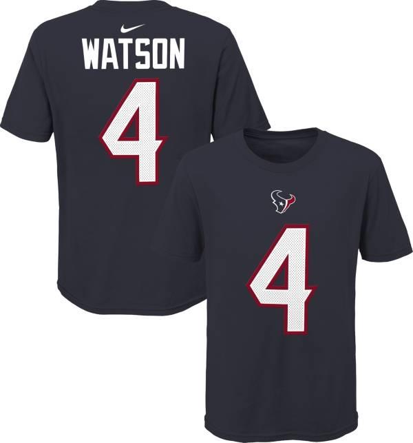 NFL Team Apparel Youth Houston Texans Deshaun Watson #85 Navy Player T-Shirt