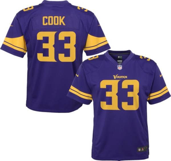 NFL Team Apparel Youth Replica Minnesota Vikings Dalvin Cook #33 Purple Jersey product image