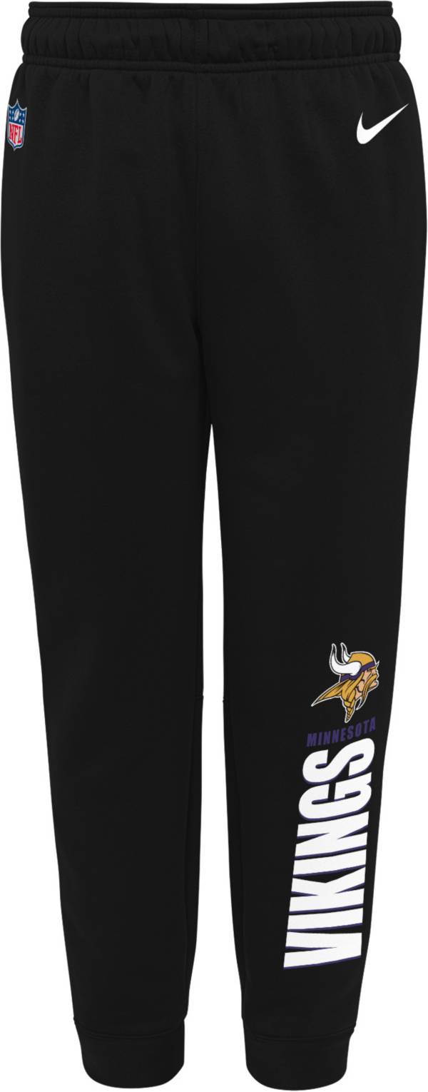 Nike Youth Minnesota Vikings Sideline Therma-FIT Performance Black Pants product image