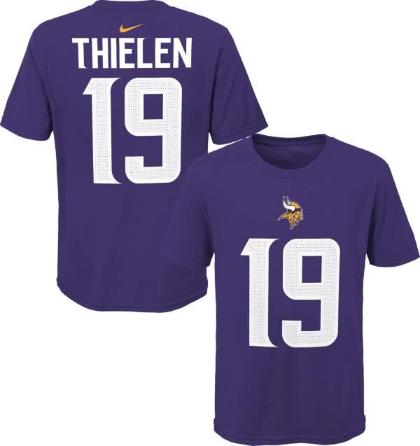 NFL Team Apparel Youth Minnesota Vikings Adam Thielen #85 Purple Player T-Shirt product image