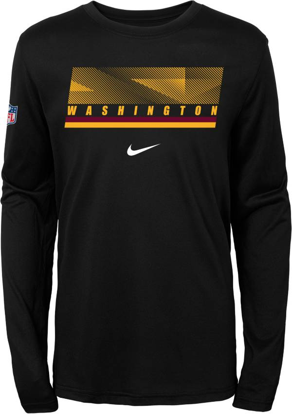 Nike Youth Washington Football Team Sideline Black Long Sleeve Shirt product image
